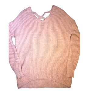 Mossimo Pink Long Sleeve Sweater Top